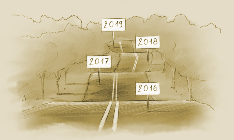 """The roadmap"", courtesy of our creative director François Téchené"