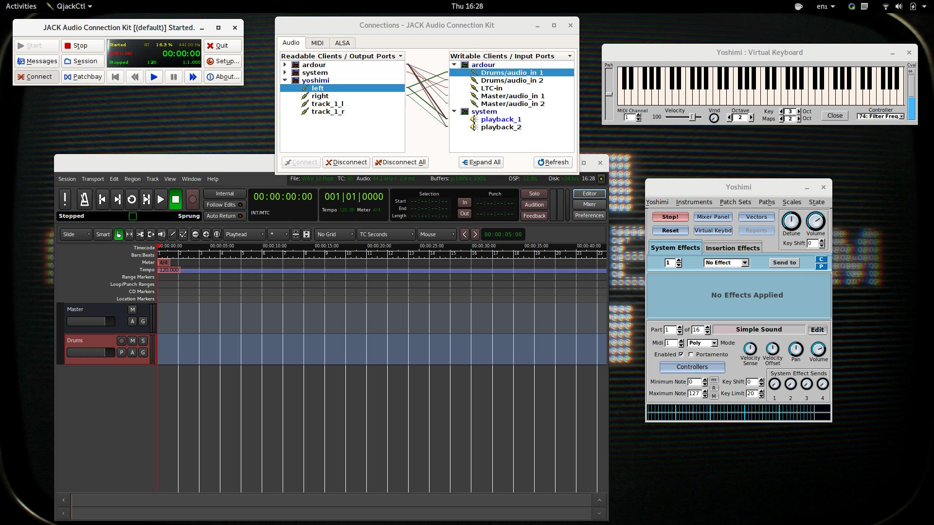 You Are Now Ready To Enjoy Your Fully Operational Free Software Powered Professional Music Studio