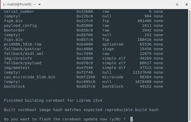 Coreboot hash