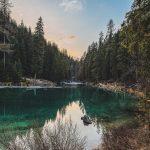 Reflection, lake and mountains
