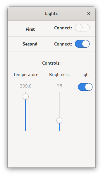 An IOT Light App on PureOS for Librem 5
