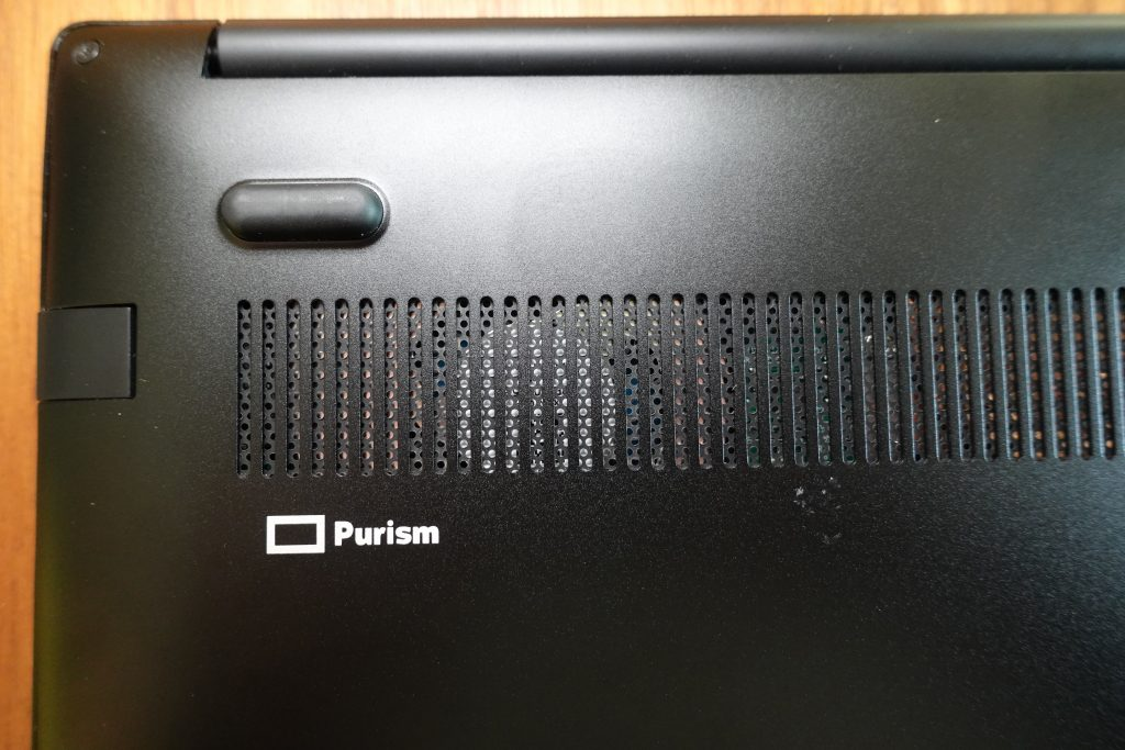 Purism Librem 14 Bottom Logo and Fan Grill