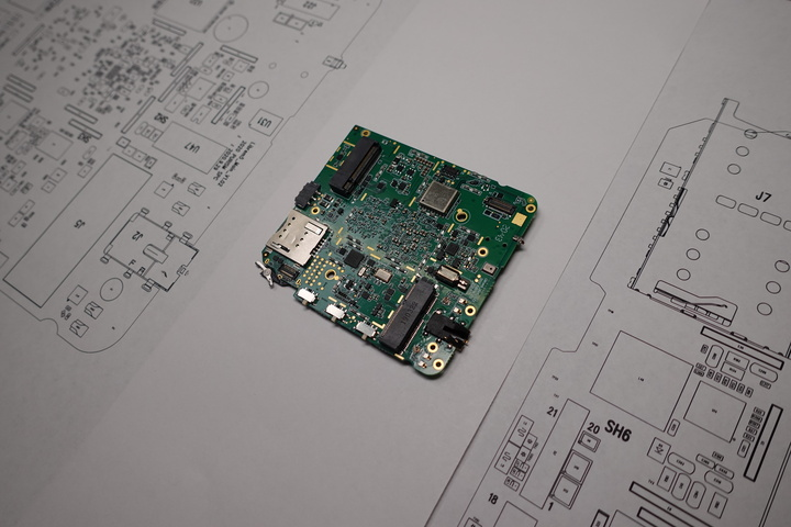Comparing the PCBA to the parts layout and schematics